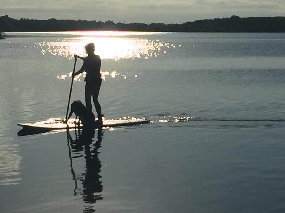 Love paddle boarding with my dog