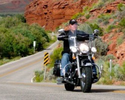 Last leg of our Laughlin River Run/Route 66/Moab 4-day road trip with my brother and a dozen friends -- unless you count the 50,000 bikers we met in Laughlin; the largest in the western US.  So who needs (or wants) Sturges (and its half-million bikers)?!