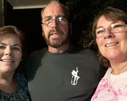 Eleanor left, My brother Raymond center, My sister Laura Right