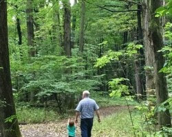 Sacred Grove with Granddaughter 2019