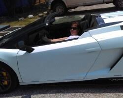 Driving my girlfriends Lambo