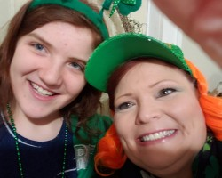 My granddaughter and me on St. Patrick's Day 2020
