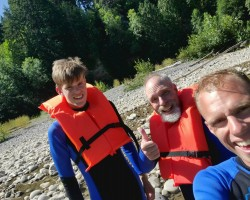 June 2021 kayaking w sons