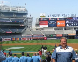 An older photo, but one of my favorite boys' trip -- 8 stadiums in 8 days.  I'm a Yankees fan since Mantle & Marris.  Playing's now limited to whiffle-ball and I don't watch much until October, but I sure love crossing MLB stadiums off my bucket list.
